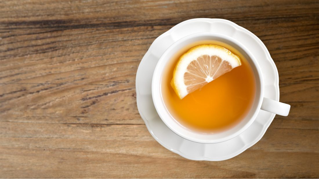 earl grey tea with lemon