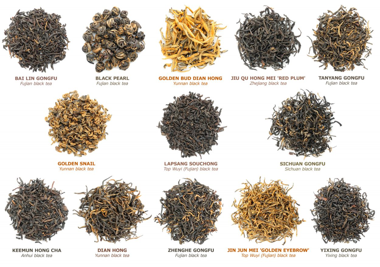 various famous chinese black teas